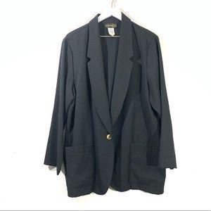 Requirements Vintage Oversized Black Blazer